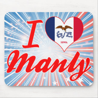I Love Manly, Iowa Mousepads