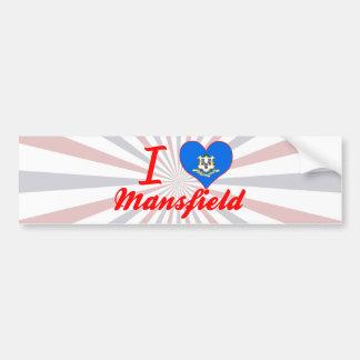 I Love Mansfield, Connecticut Bumper Stickers