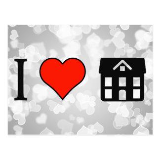 I Love Mansion Postcard