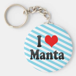 I Love Manta, Ecuador Key Ring