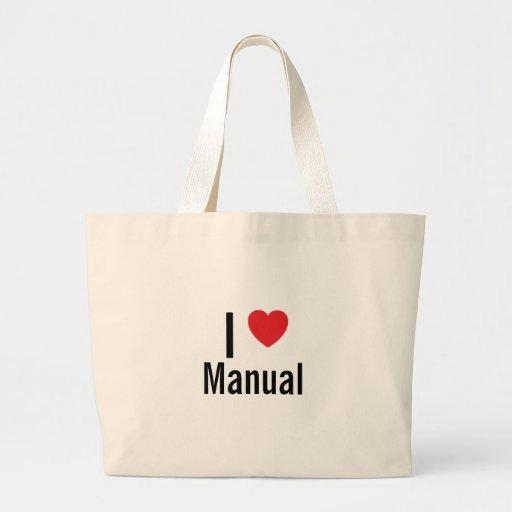 I love Manual Canvas Bag