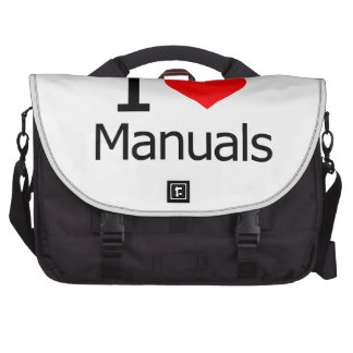 I Love Manuals Laptop Bags