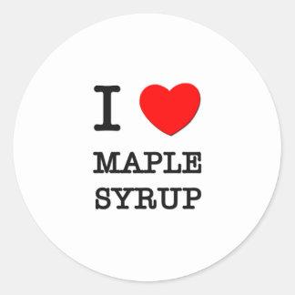 I Love Maple Syrup Round Sticker