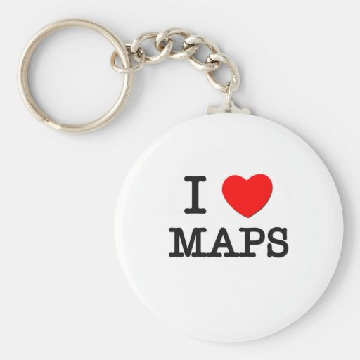 I Love Maps Key Chains