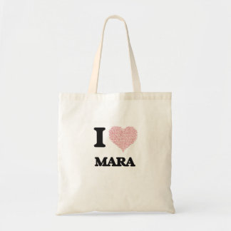 I love Mara (heart made from words) design