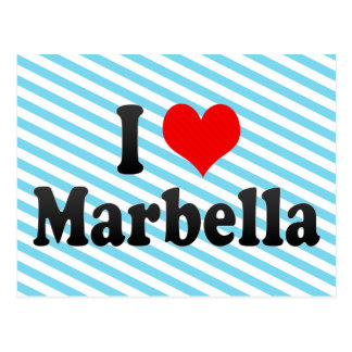 I Love Marbella Spain Post Cards