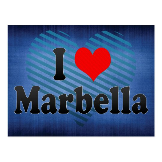 I Love Marbella, Spain Postcard