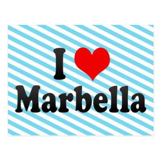 I Love Marbella, Spain Postcard