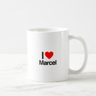 i love marcel basic white mug