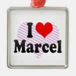 I love Marcel Christmas Ornaments