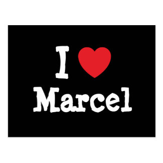 I love Marcel heart custom personalized Post Cards