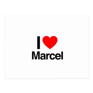 i love marcel post card