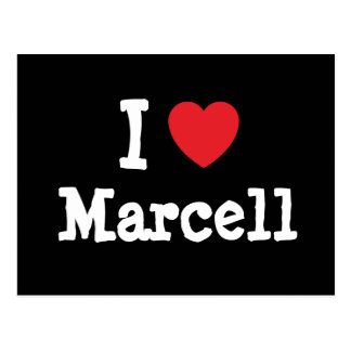 I love Marcell heart T-Shirt Postcards