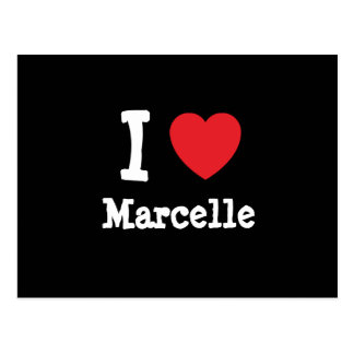 I love Marcelle heart T-Shirt Postcards