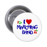 I Love Marching Band Pin