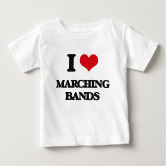 I Love Marching Bands Tee Shirts
