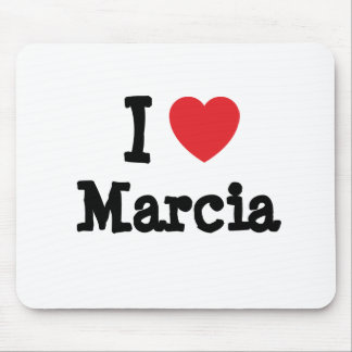 I love Marcia heart T-Shirt Mouse Pad