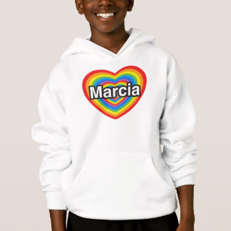 I love Marcia. I love you Marcia. Heart