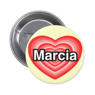 I love Marcia. I love you Marcia. Heart 6 Cm Round Badge