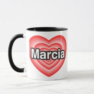 I love Marcia. I love you Marcia. Heart Mug