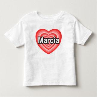 I love Marcia. I love you Marcia. Heart T-shirt