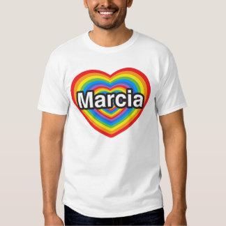 I love Marcia. I love you Marcia. Heart T Shirts