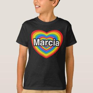 I love Marcia. I love you Marcia. Heart Tee Shirt