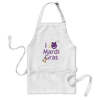I Love Mardi Gras Beads Apron
