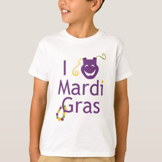 I Love Mardi Gras Kids T-Shirt