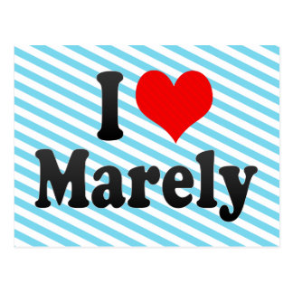 I love Marely Postcard