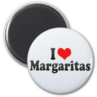 I Love Margaritas 6 Cm Round Magnet
