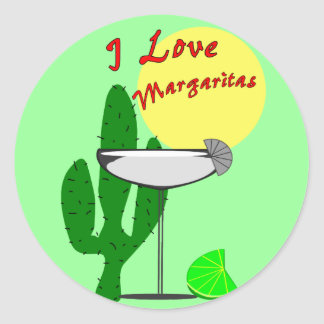 I love margaritas--Margarita Lovers T-Shirts Classic Round Sticker