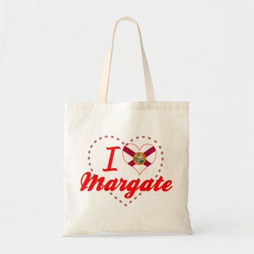 I Love Margate, Florida Tote Bags
