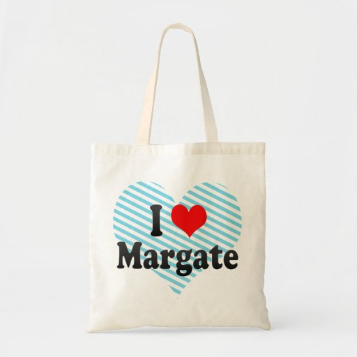 I Love Margate, United States Canvas Bags