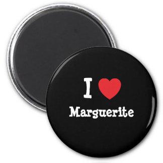 I love Marguerite heart T-Shirt Magnets