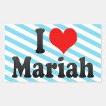I love Mariah Rectangle Stickers