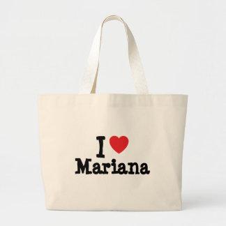 I love Mariana heart T-Shirt Bag