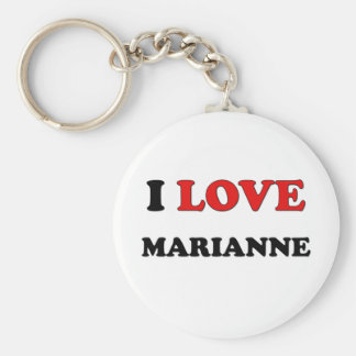 I Love Marianne Basic Round Button Key Ring
