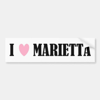 I LOVE MARIETTA BUMPER STICKER