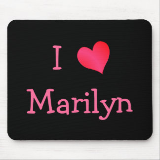I Love Marilyn Mouse Mat