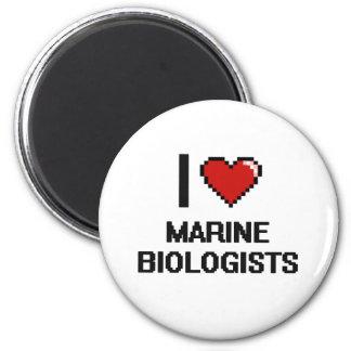 I love Marine Biologists 6 Cm Round Magnet