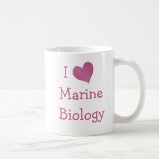 I Love Marine Biology Coffee Mug