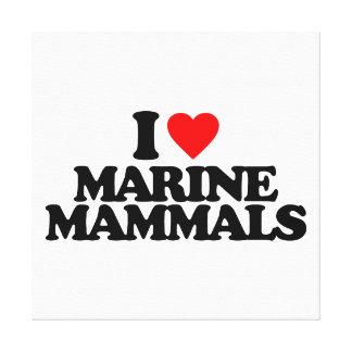 I LOVE MARINE MAMMALS GALLERY WRAPPED CANVAS