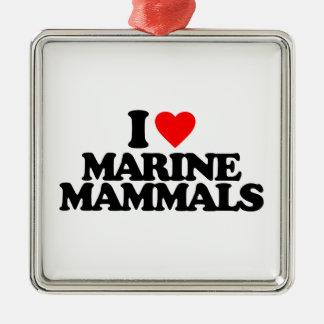 I LOVE MARINE MAMMALS CHRISTMAS TREE ORNAMENT