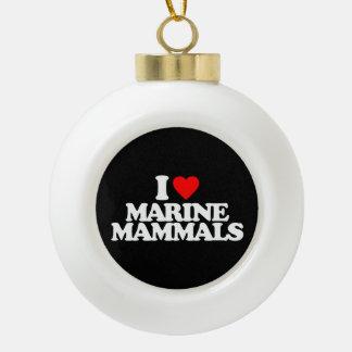 I LOVE MARINE MAMMALS ORNAMENT