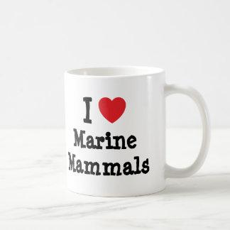 I love Marine Mammals heart custom personalized Coffee Mug