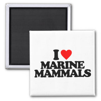I LOVE MARINE MAMMALS REFRIGERATOR MAGNETS