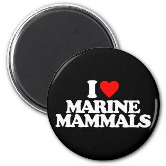 I LOVE MARINE MAMMALS MAGNETS