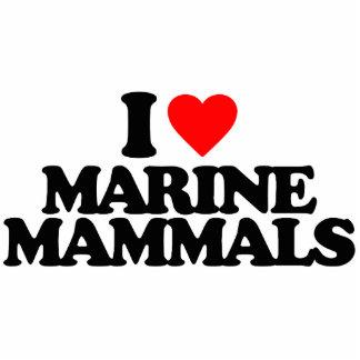 I LOVE MARINE MAMMALS PHOTO SCULPTURES