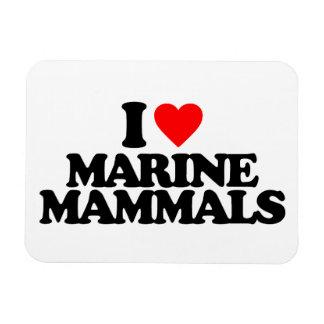 I LOVE MARINE MAMMALS FLEXIBLE MAGNETS
